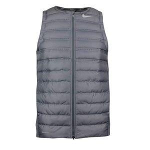NWT Nike golf running Aeroloft vest silver grey